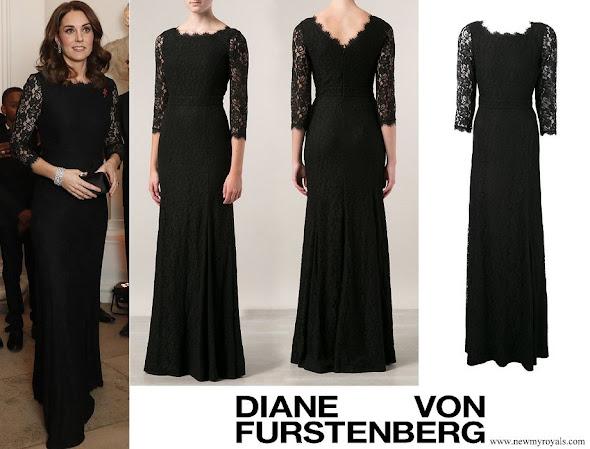 Kate Middleton wore DVF DIANE VON FURSTENBERG Zarita gown