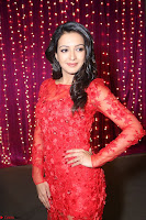 Catherine Tresa in red transparent gown at Zee Telugu Apsara Awards 2017 05.JPG