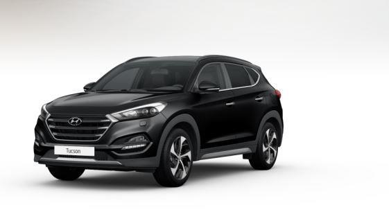 colori Nuova Hyundai Tucson 2016 Nero - Phantom Black davanti frontale