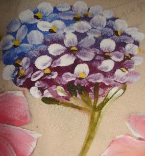 pintura em tecido hortênsia