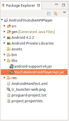 import YouTubeAndroidPlayerApi.jar