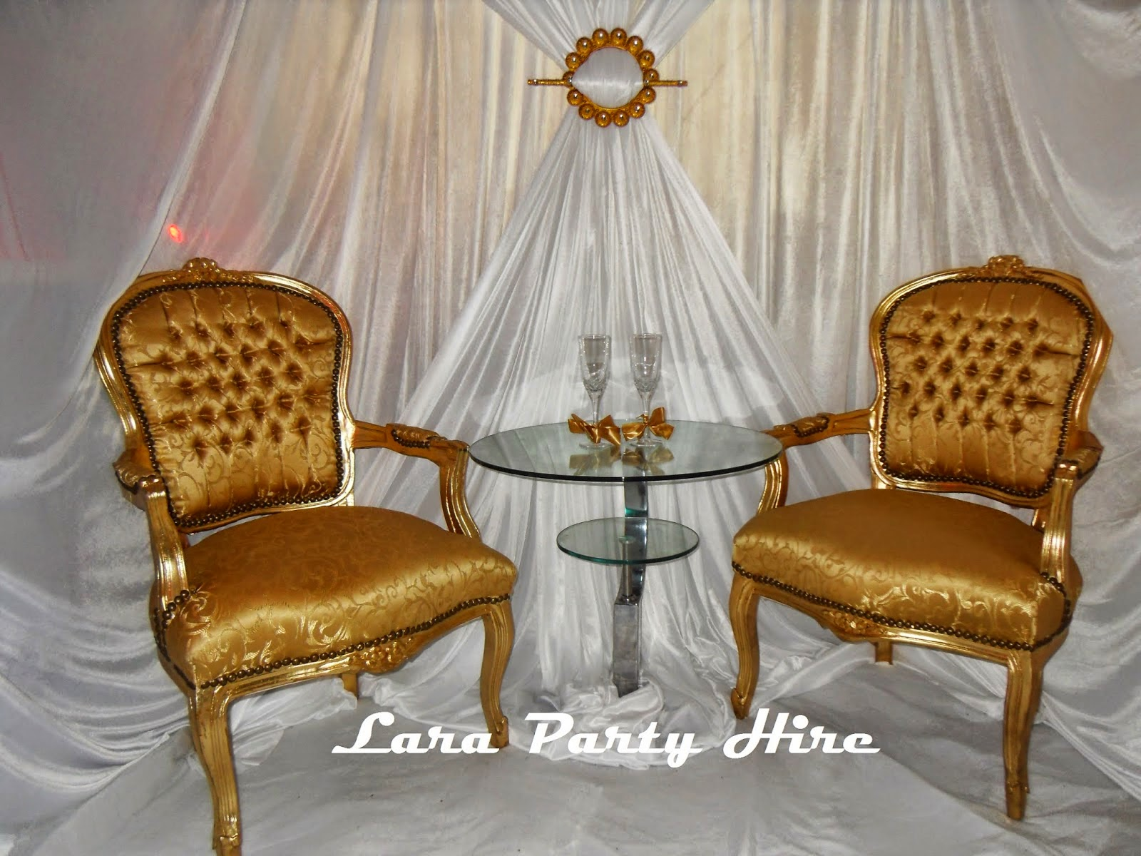 Gold Wedding Chairs €50.