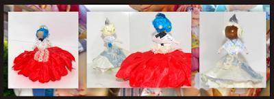 Muñecas falleras hechas con alambre de aluminio