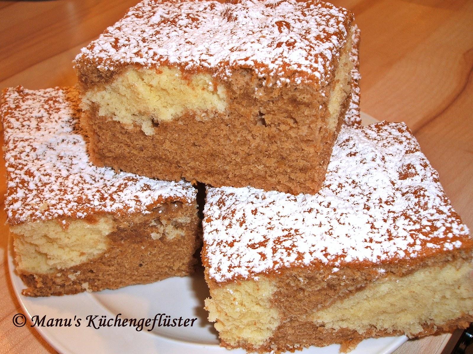 Manus Kuchengefluster Nougat Kokos Kuchen