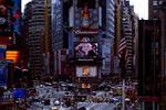 Times Square, en el centro de Manhattan