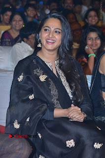 Actress Anushka Anushka Shetty Stills in Black Salwar Kameez at Om Namo Venkatesaya Audio Launch Event  0019.JPG