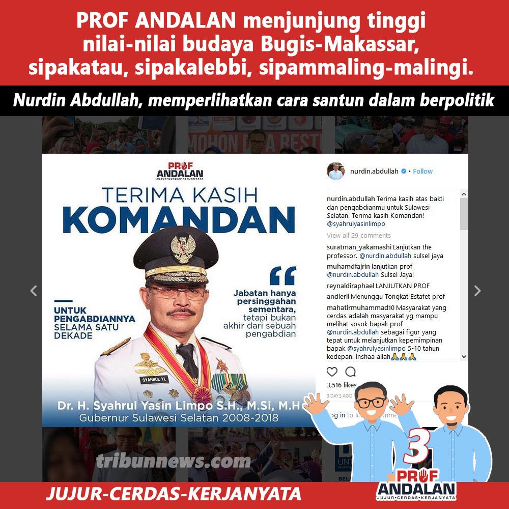 Nurdin Abdullah, Memperlihatkan Cara Santun Dalam Berpolitik