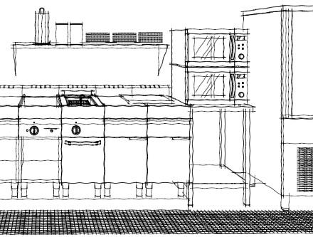 Mobiliario de bar y restaurante tecnicas de un buen camarero for Plano de una cocina profesional