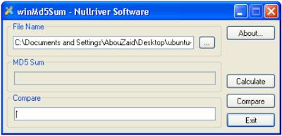برنامج WinMD5Sum
