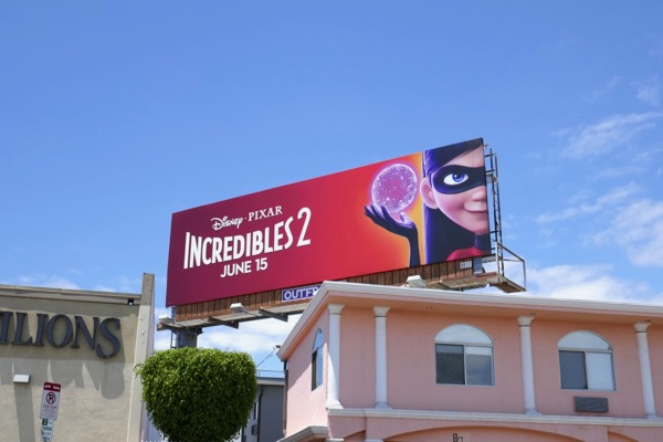 Incredibles 2 Violet billboard