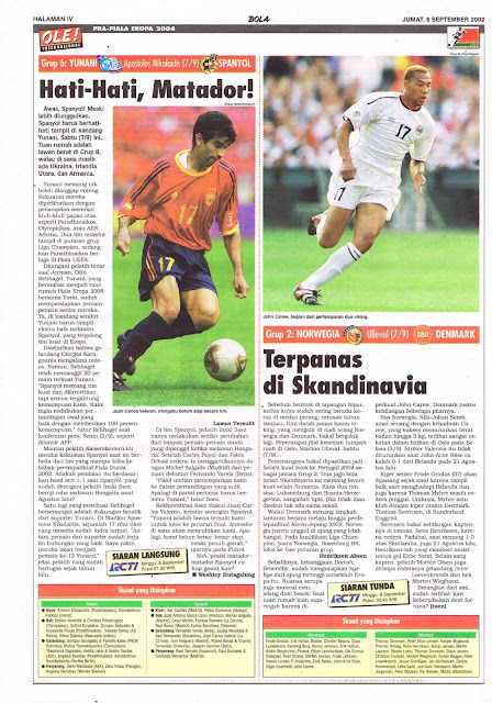 PRA-PIALA EROPA 2004: GRUP 6 YUNANI VS SPANYOL HATI-HATI, MATADOR!