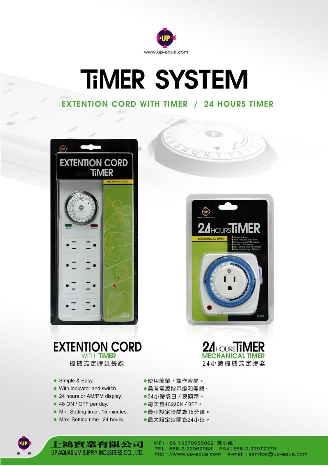 ổ cắm điện kèm timer tiện dụng cho hồ thủy sinh