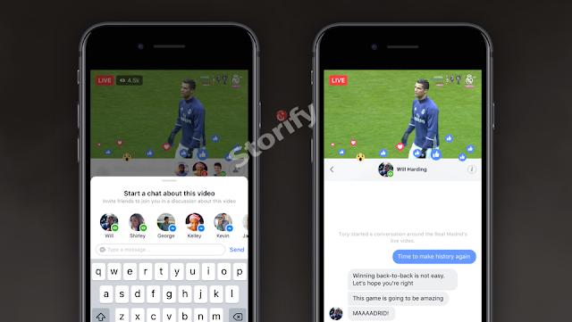 facebook canlı yayın izlerken arkadaşlarınla mesajlaşma