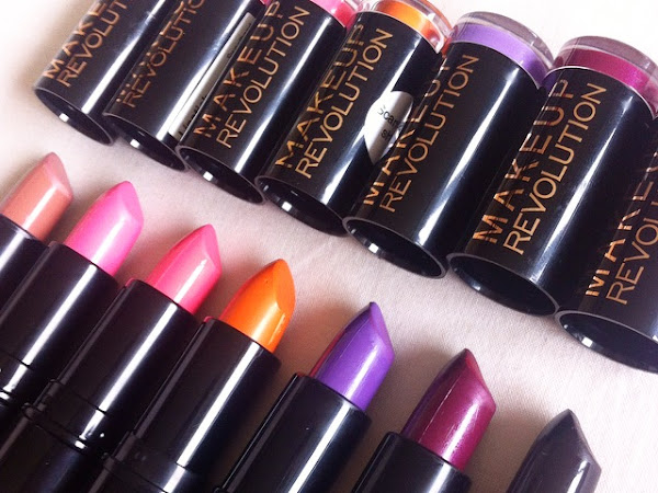 Makeup Revolution £1 Lipsticks Review and Swatches