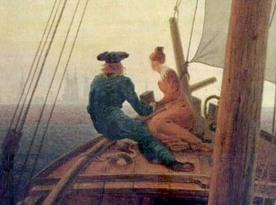 Caspar David Friedrich: On the Sailing-Boat (detail)
