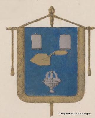 Blason des blanchisseurs d'Auvergne. saint Flour