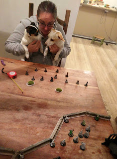 Getting ready to play Rohan vs Uruk Hai