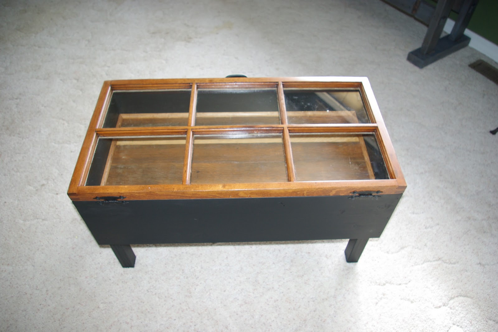 Reclaimed Rustics: Hinged Window Coffee Table