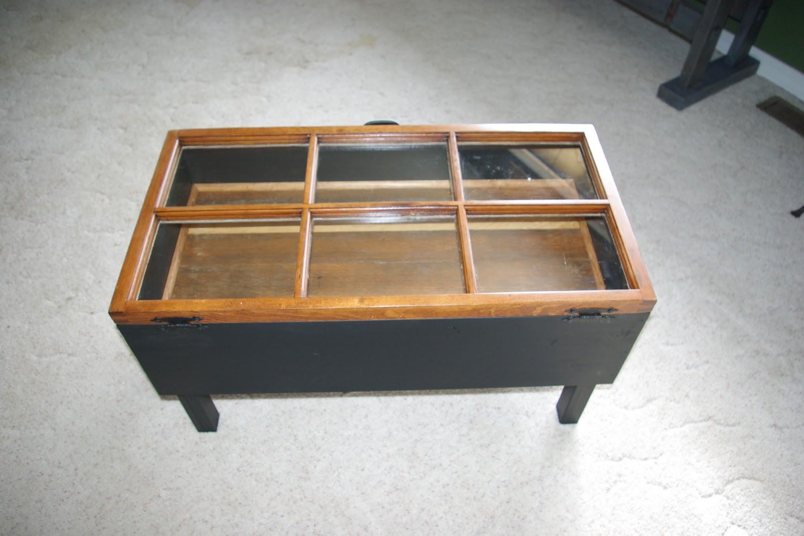 Reclaimed Rustics: Hinged Window Coffee Table