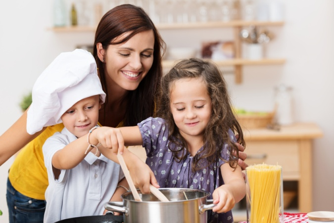 Cocinar en familia con niños