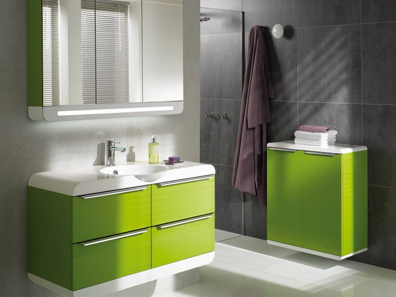 26 Fotos de casas de banho decoradas em tom verde