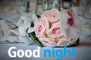good night cute rose images