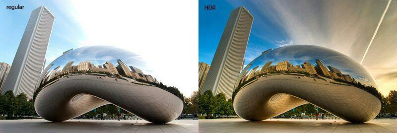 Hasil foto dengan mode HDR