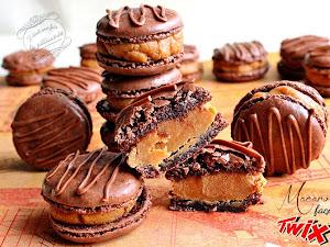 Macarons chocolat et caramel... façon Twix !