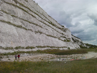 chalkpit quarry cliff face