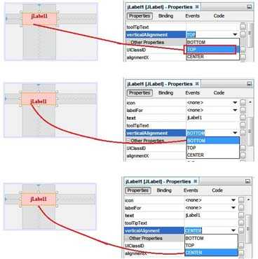 Vertical Alignment setting in Netbeans