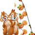 Alfabeto de las Ardillitas Chip and Dale.