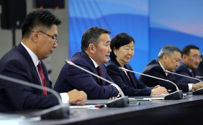President of Mongolia Khaltmaagiin Battulga in Vladivostok.
