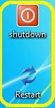 cara membuat tombol shutdown di desktop