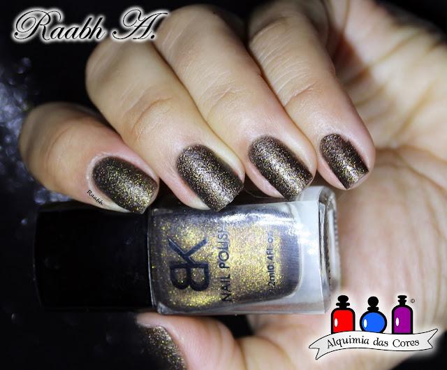Texturizado, BK, Esmalte Marrom, Liquid Sand, Unhas carimbadas