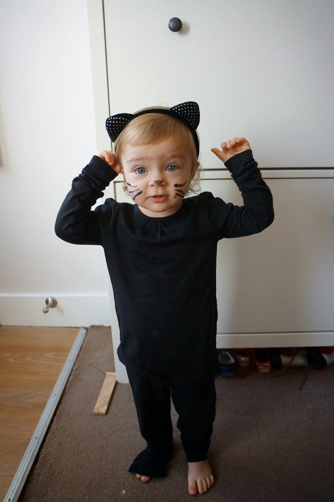 black kitty halloween costume baby