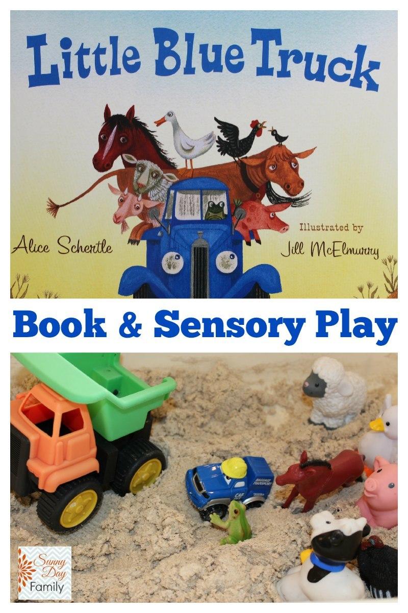 little blue truck book u0026 sensory play activity for preschoolers