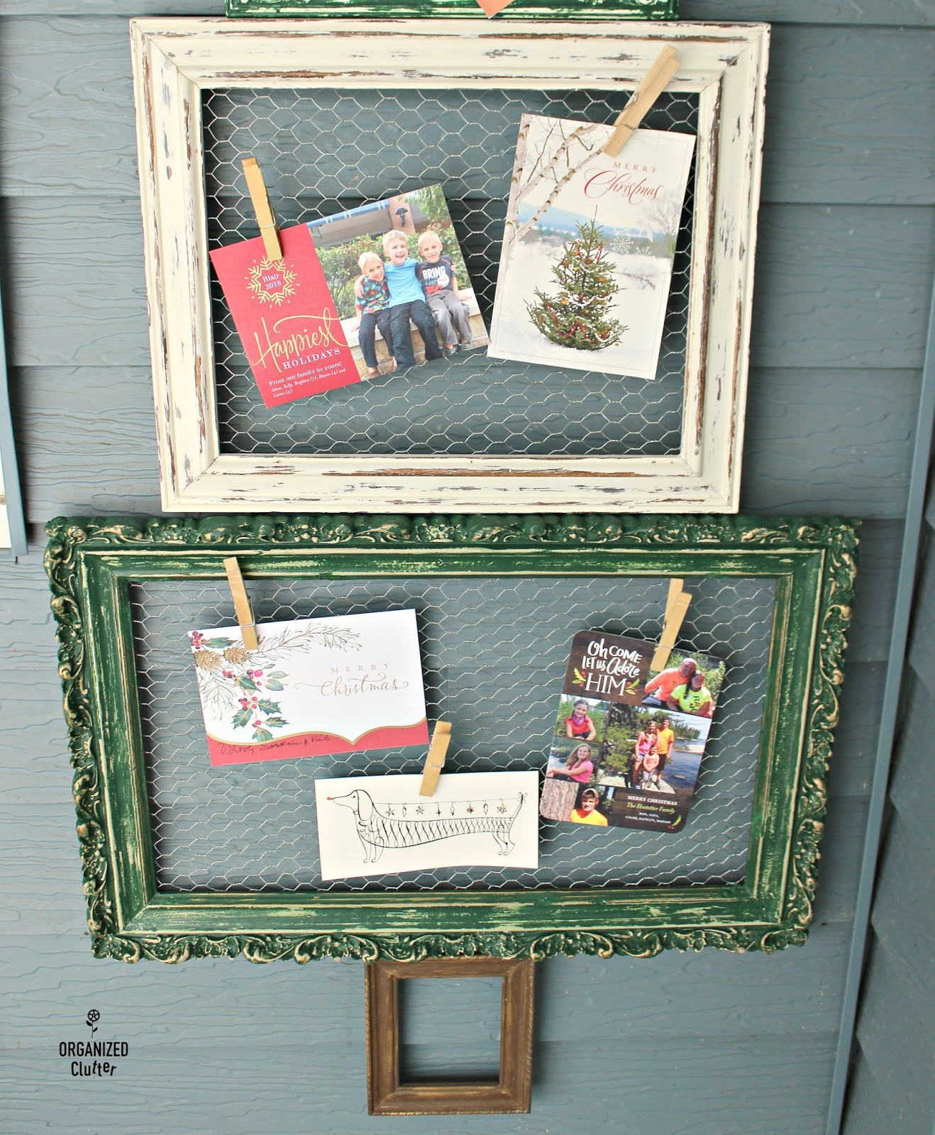 Christmas Tree Shop Picture Frames: Thrift Shop Repurposed Frame Christmas Tree 2017