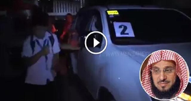 فيديو .. لحظة إطلاق النار على الداعية السعودي عائض القرني