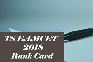 EAMCET  Rank card 2018, TS EAMCET Rank card download 2018