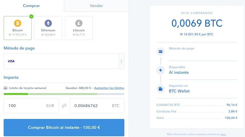 comprar bitcoin ethereum en coinbase