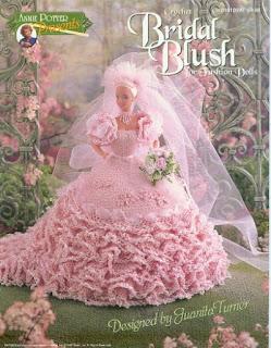 Vestido de noiva de crochê para bonecas Barbie - Receita em inglês 1
