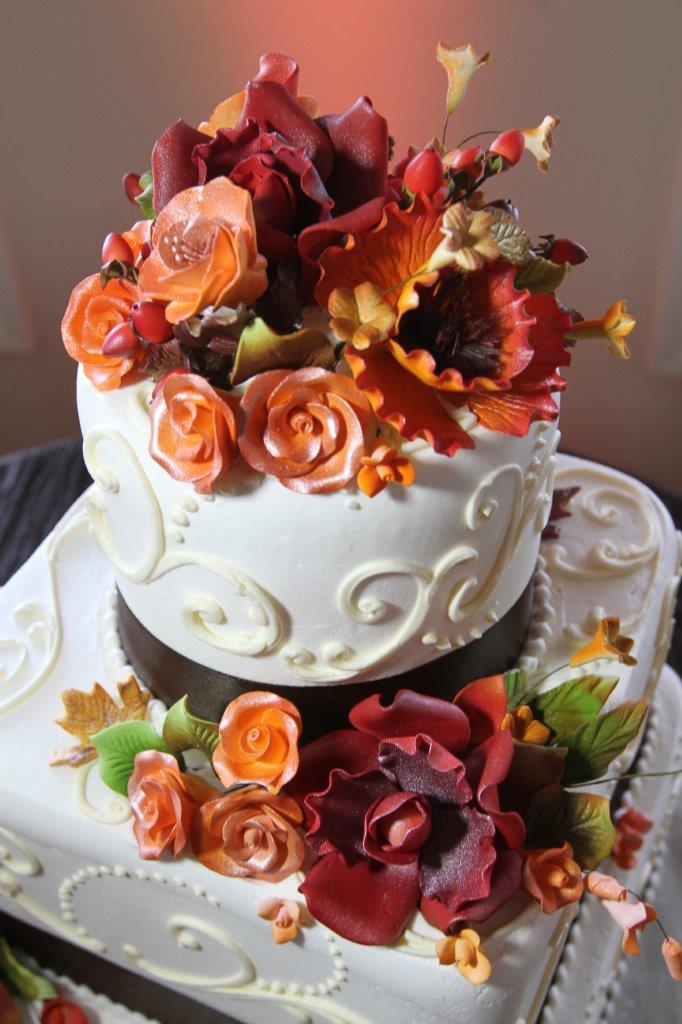 wedding cake fall colors wedding inspiration that lives forever fall inspired weddings 22591