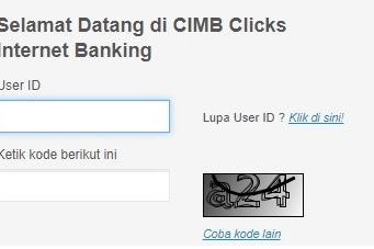 Cara Daftar Internet Banking CIMB Clicks di ATM dan di Website