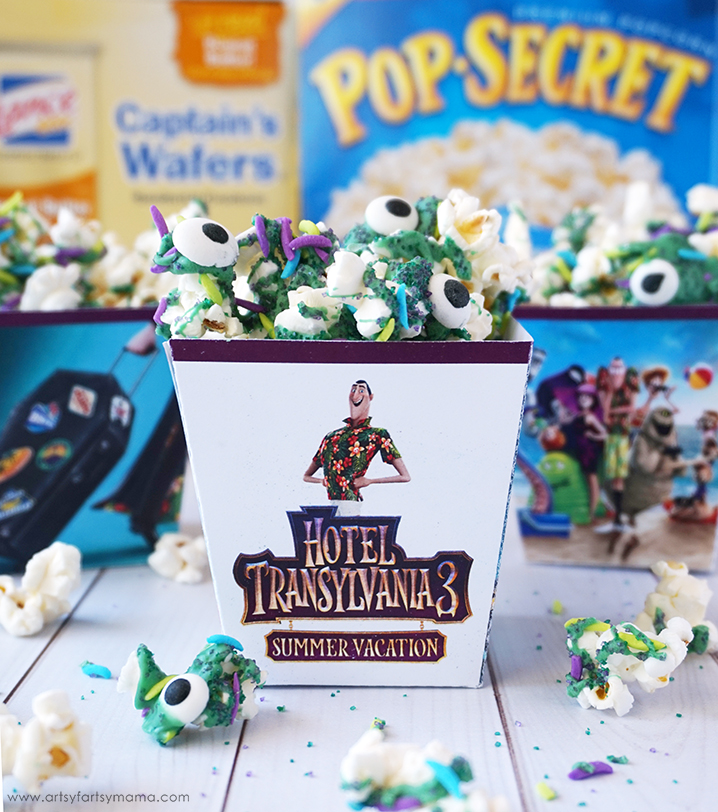 Hotel Transylvania 3: Summer Vacation free Movie Party Printables and Monster Popcorn recipe
