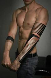 tribal arm tattoo tattoos forearm designs sleeve band arms lines tatoo mens body idea nice left bands skinny simple long