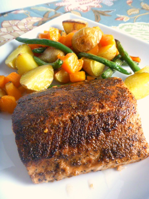 11 Best Dishes of 2018 - Chili Lime Salmon with Roasted Vegetables - Slice of Southern
