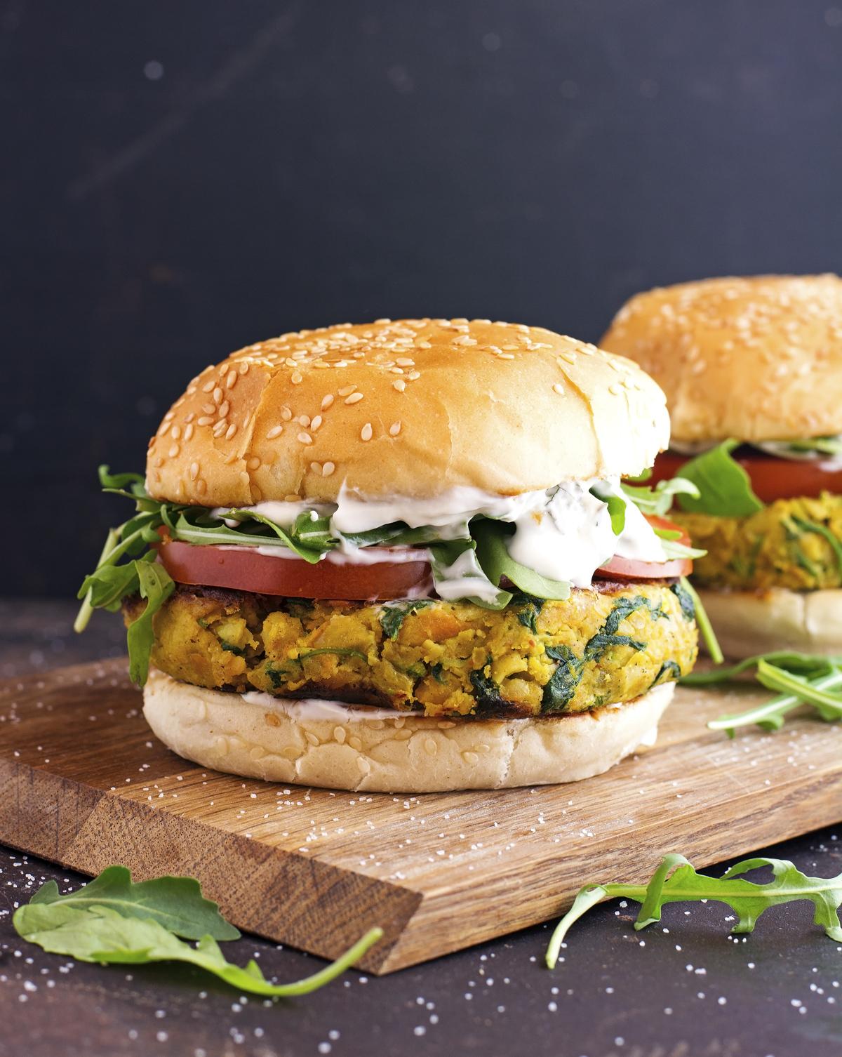 My Favorite Chickpea Veggie Burger