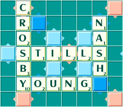 Crosby, Stills, Nash & Young Scrabble