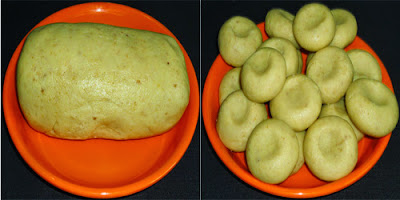 mixture kneaded and rolling peda