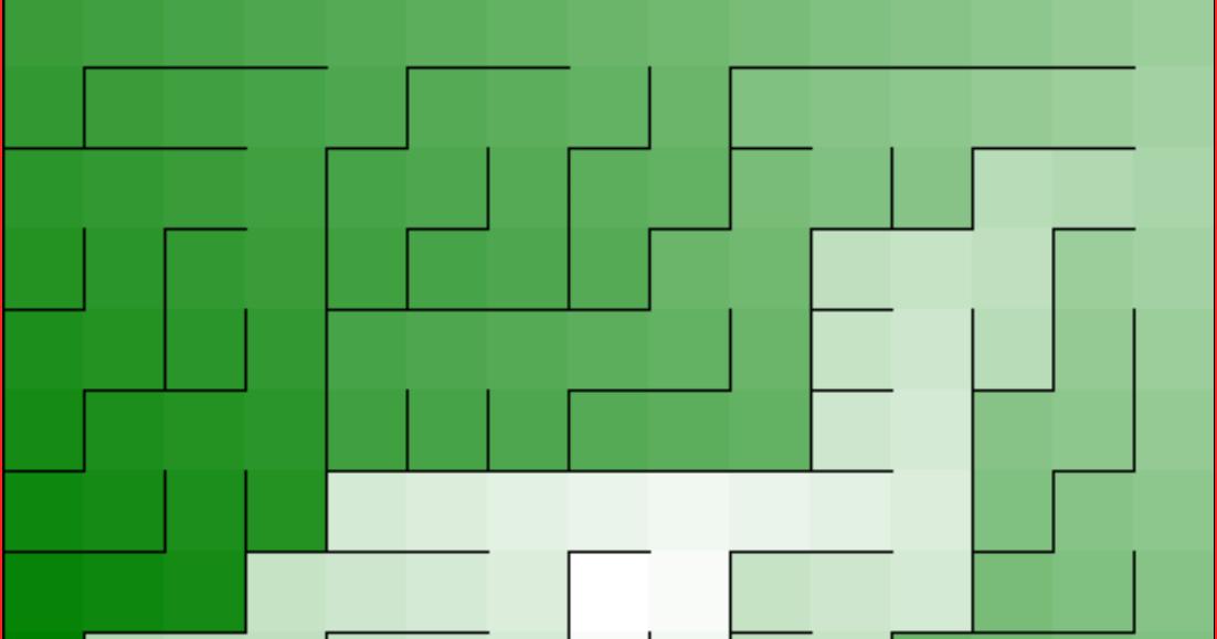 Jeremy Bytes: More Maze Programming: A Non-Biased Algorithm